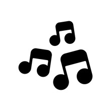 Music Notes, Song Or Melody. B...