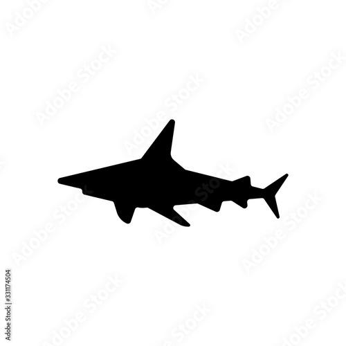 Shark silhouette, underwater predator Tableau sur Toile