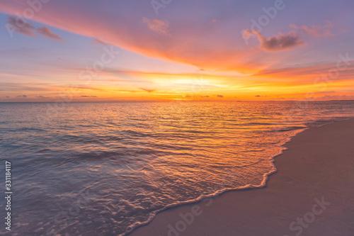 Fotografie, Obraz Closeup of sand on beach and blue summer sky