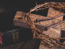 Cross And Crown Of Thorns With...