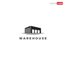 Warehouse  Icon/symbol/Logo Design Vector Template Illustration