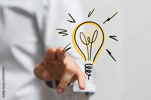 Obraz na plátně idea lamp concept in hand.
