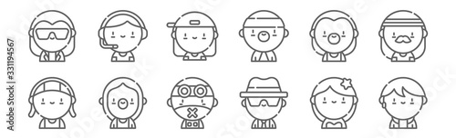 Fototapeta set of 12 urban tribes icons