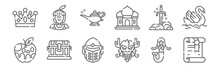 Set Of 12 Fairytale Icons. Out...