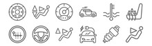Set Of 12 Auto Icons. Outline ...