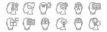 Set Of 12 Human Mind Icons. Ou...