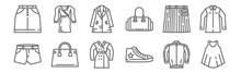 Set Of 12 Fashion Style Icons....