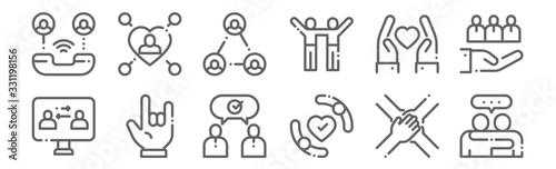 Tela set of 12 friendship icons