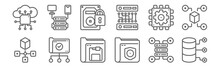 Set Of 12 Data Manager Icons. ...