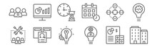 Set Of 12 Agile Icons. Outline...