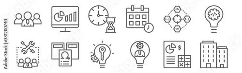Photo set of 12 agile icons