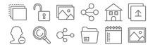 Set Of 12 Essentials Icons. Ou...