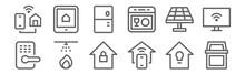 Set Of 12 Smart Home Icons. Ou...