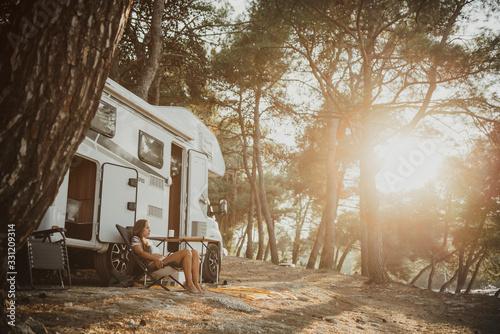 Obraz na plátně Camping