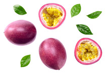 Fresh Passion Fruits With Leav...