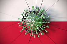 Virus Breaks Wall With Flag Of...