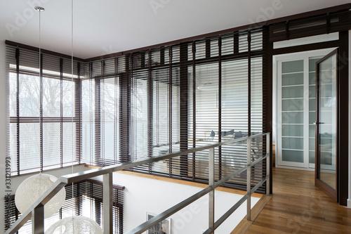 Fototapeta Window walls in two-floor apartment obraz na płótnie