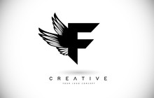 F Letter Logo With Wings. Crea...