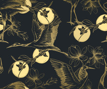 Seamless Oriental Pattern With...