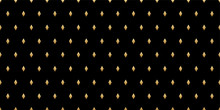 Luxury Seamless Pattern. Gold Diamonds On A Black Background. Vector Geometric Minimal Pattern For Premium Design