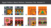 Egypt Patterns Band Motives. S...