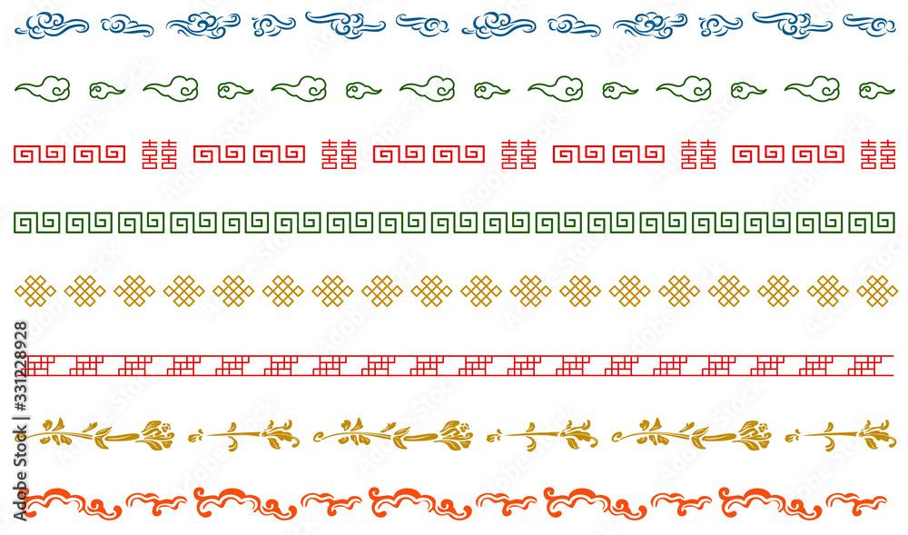 Fototapeta 中華模様 飾り線