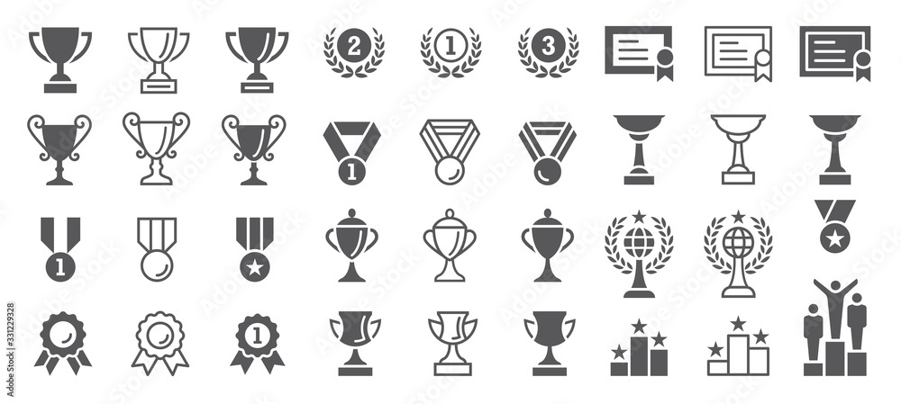 Fototapeta Set of Winning Vector Icons