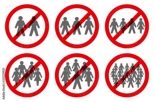 Fotografija Ban on gathering symbols