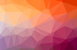 Illustration of abstract Orange horizontal low poly background. Beautiful polygon design pattern.
