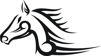 TRIBAL HORSE ILLUSTRATION VECTOR