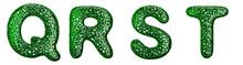 Realistic 3D Letters Set Q, R,...