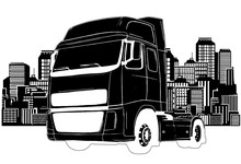 Truck Trailer Types Vector Ill...