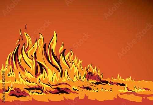 Fototapeta Bright fire. Vector drawing pattern