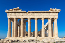 Parthenon Temple At Morning Ti...