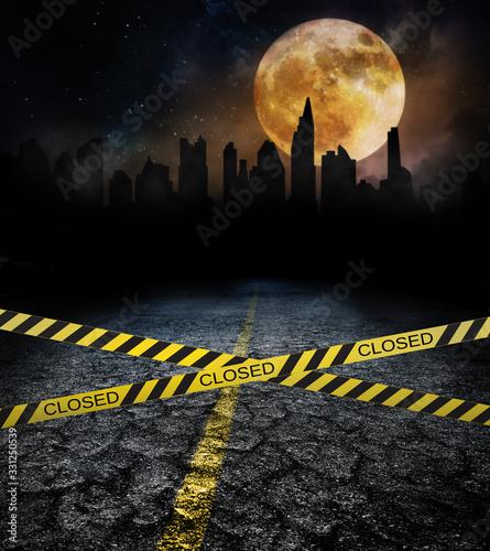 city closed under pandemic quarantine concept Fototapet