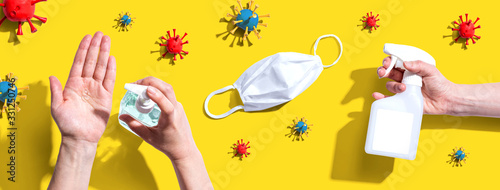 Prevent virus and germs - healthcare and hygiene concept - 331250746