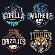 Colorful Sports Teams Logotypes Set