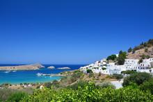 Mediterranean Town Lindos, Gre...