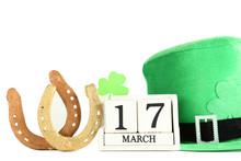 St.Patrick's Day. Cube Calenda...