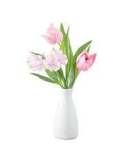 Spring Flowers In White Vase I...