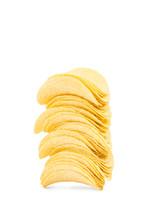 Patatas Fritas Apiladas Sobre ...