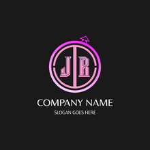 JR  Initial Logo With Colorful...
