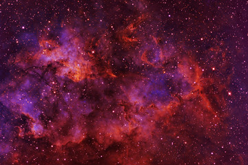 Beautiful galaxy of red color with stars. Elements of this image were furnish...