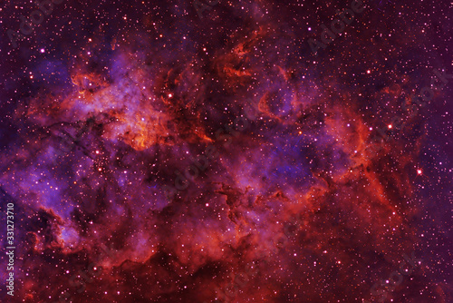 Obraz Beautiful galaxy of red color with stars. Elements of this image were furnished by NASA. - fototapety do salonu
