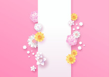 Spring Paper Cut 3d Flower Ver...