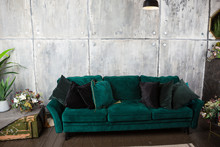 Comfortable Soft Green Divan I...