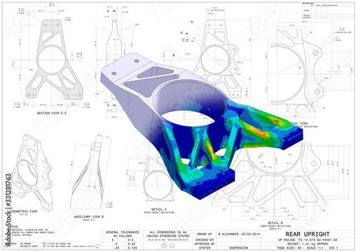 Obraz na plátně 3D Illustration