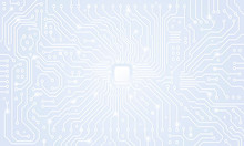 Circuit Board. White Abstract ...
