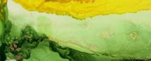 Abstract Green Wave Blots Back...