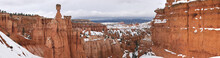 Bryce Canyon In Winter With Snow